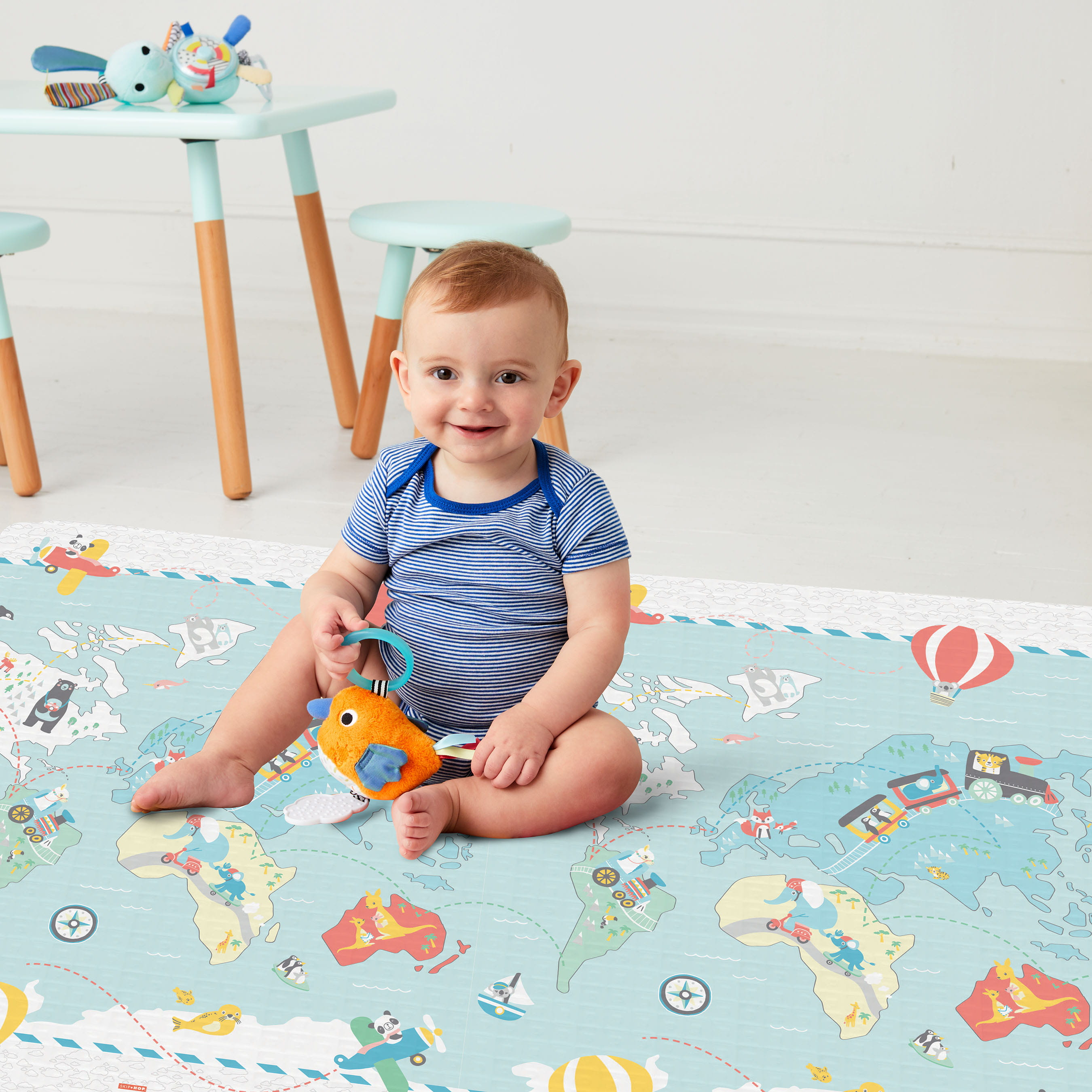 Vibrant Village Doubleplay Reversible Playmat - Little Travelers