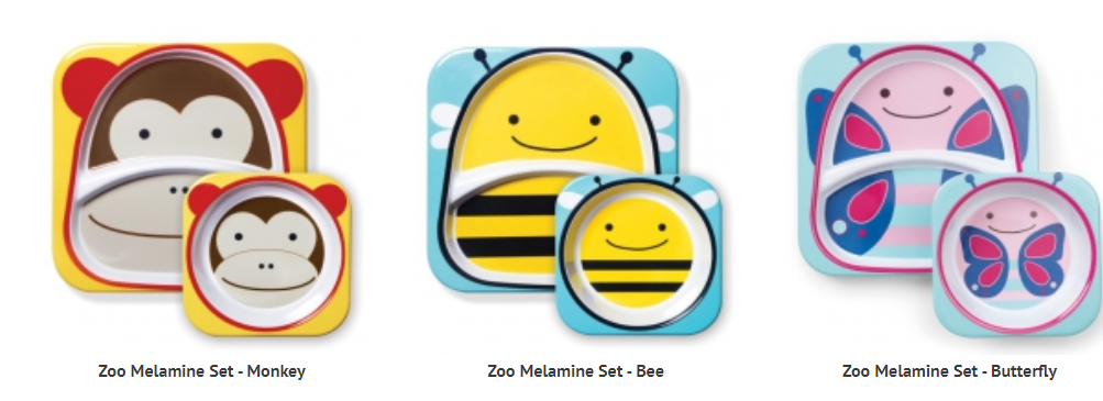 ZOO MELAMINE SETS