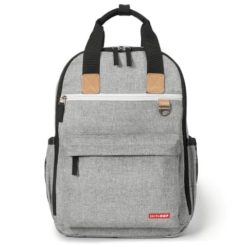 Signature Duo Backpack - Grey Melange