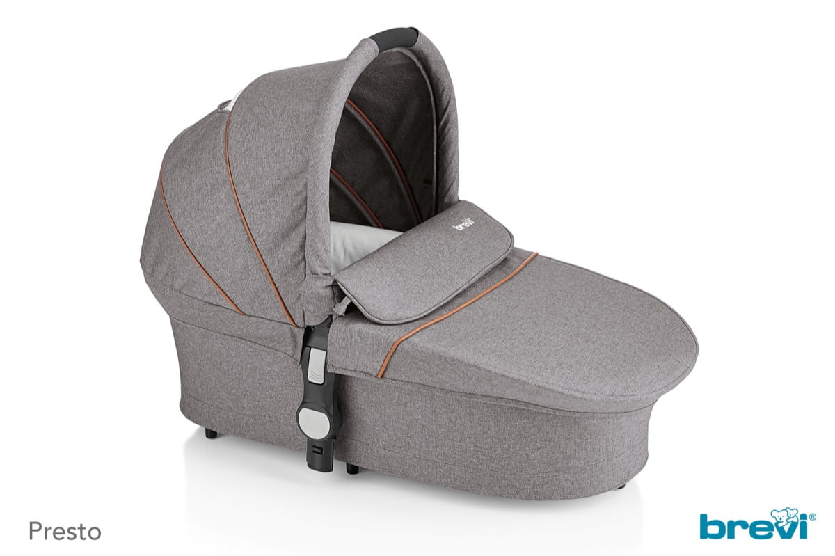 Space Saving Carrycot Grey Melange