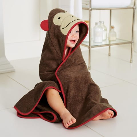 Zoo Hooded Towel Monkey