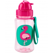 Zoo Straw Bottle - Flamingo