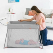 Play to Night Expanding Travel Crib - Grey/Clouds