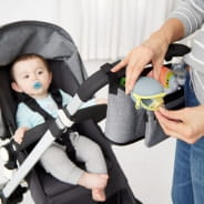 Grab & Go Silicone Pacifier Holder - Grey