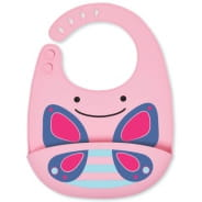 Zoo Fold & Go Silicone Bib Butterfly