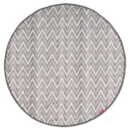 Grab & Go Round Trip Travel Mat - Grey Zig Zag