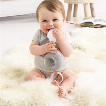 Silver Lining Cloud Rattle Moon Stroller Toy