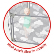 Playview Expandable Enclosure- Grey/Clouds