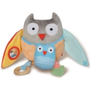 Treetop Friends Owl Activity Toy- Grey/Pastel