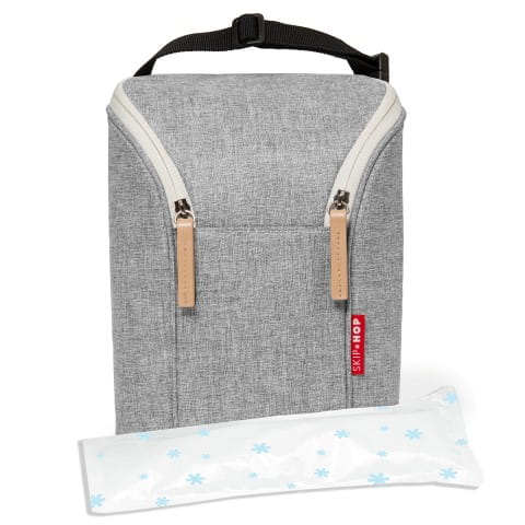 Double Bottle Bag - Grey Melange